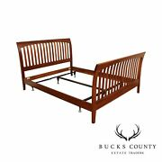Ethan Allen American Impressions Collection Cherry Queen Sleigh Bed