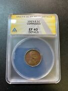 1923 S Wheat Cent Anacs Xf-40 Det - Better Date - Wheat Penny - Certified - 1c