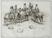 Edward Borein Etching And Drypoint On Paper And039splitting The Ridersand039
