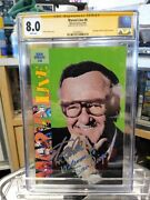 1993 Marvel Live Sdcc 0 Stan Lee Photo Cover San Diego Comic Con Cgc Ss 8.0