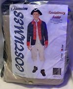 Revolutionary Soldier Adult Costume Size Large Jacket Breeches And Vest New