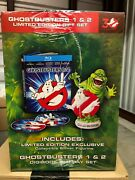 Ghostbusters 1 And 2 Blu-ray Disc 2014 New Oop Gift Set Limited Slimer Digibook