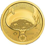 1oz Klondike Gold Rush Panning For Gold Pure Gold Coin 2021 200 Dollars Canada