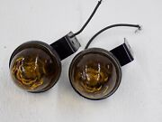 Pair Of Vintage Arrow Clearance Lights Embossed Sema Approved