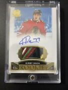 Kirby Dach 2019/20 The Cup Rpa Rookie Patch Auto /12 Gold Blackhawks