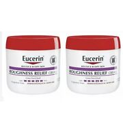 2 Pack Eucerin Roughness Relief Cream - Smooth Rough And Bumpy Skin - 16 Oz. Ea