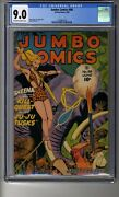 Jumbo Comics 1938 88 - Cgc 9.0 Ow/white Pages - Sheena Queen Of The Jungle