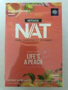 Pruvit Nat Keto//os Lifeand039s A Peach 510 And 20 Packets New Box Sealed 12/2022