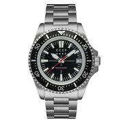 New Menand039s Cccp Kamchatka Steel All Black Submariner Style Diver Watch Cp-7048-55