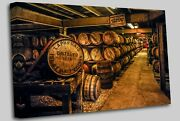 Whisky Maturing In Barrels At The Famed Laphroaig Canvas Wall Art Picture Print