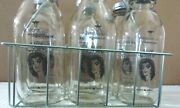 Alice Cooper New 6 Milk Bottles / New Carrying Rack And New Bottle Caps Cool