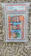 1969 Topps Rollie Fingers Rookie Rc 597 Psa/dna Auto