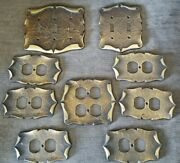 Vintage Amerock Carriage House Gold Light Switch Outlet Plate Cover Lot 9