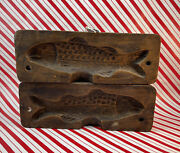 Vintage Wooden Mold For Cookie Or Butter 1800's