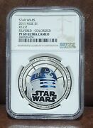 2011 Star Wars Ngc Pf 69 Niue 1 R2-d2 Silvered / Colorized / Ultra Cameo