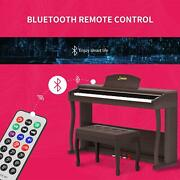 Lag-650 88 Key Weighted Hammer Action Digital Piano For Kids Brown With Bench