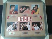 Rocky Photos Ensenble 6 Signed By Cast Members Customed Framed With C.o.a.