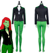 Harley Quinn-poison Ivy Cosplay Costume Halloween Full Set Outfit