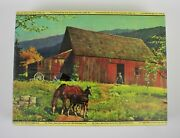 Vintage A Day In June Warren Built Rite 1600 Piece Picture Puzzle Made In Usa