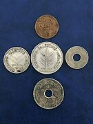 Lot Of Coins Palestine 151050100 Mils 1939 Silver Complete Series Rare