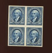 262p4 Madison Plate Proof On Card Block Of 4 Stamps Stock 262 P1 By184