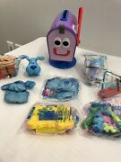Lot Of Blueand039s Big Musical Movie Subway Toy Blues Clues Side Table Periwinkle