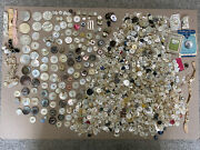 4.8 Lbs Large Lot Vintage/antique Mother Of Pearl Mop Buttons Carved Smokey Sets