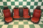 17and039 Charger R/t Black Red Leather Seats Dual Power Heat Cool Oem Seats Backseat
