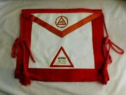 Vintage Masonic Ram Royal Arch Chaplainand039s Apron With Bible Insignia