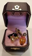 Juicy Couture🎀gold Atomizer And Perfume Bottle Charm Lot Retired 🎀 Very Rare