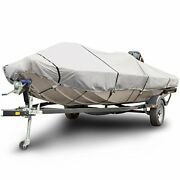 Budge B-611-x6 600 Denier Low Profile Flat Front Boat Cover Gray 20and039-22and039 Long...