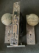Antique Russell And Erwin Bronze Doorknobs And Rosettes And Keyholes Cover