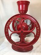 Antique Red Coffee Mill Grinder By Fairbanks Morse And Co Chicago