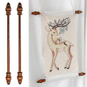 2x Tapestry Hanging Poles Banner Picture Drawings Maps Portraits Hanger Rods