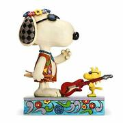 Enesco Peanuts By Jim Shore Snoopy And Woodstock Concert Goers