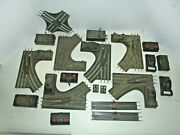 Lionel O/27 And O Gauge Track Lot With 0/27 Switches Vintage Postwar