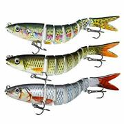 Fishing Lures For Bass Trout Multi Jointed Swimbaits Slow Sinking Bionic...