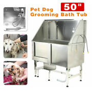 304 Stainless Steel Pet Dog Grooming Bath Tub Professional Cat Wash Shower 50