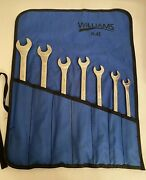 Williams Supercombo 12 Point Sae 7 Pc Wrench Set With Roll Pouch. Made In Usa