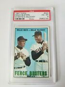 1967 Topps Baseball 423 Fence Busters Willie Mays/willie Mccovey Giants Psa 4