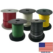 Marine Primary Tinned Copper Wire 10 Gauge 25 100 And 500 Ft Lot 10 Colors - Usa