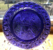 Pairpoint Bald Eagle Arrows Peacock Eye Sandwich Glass Museum Plate Ook