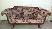 Vintage Antique Victorian Federalist Mohair Couch Sofa