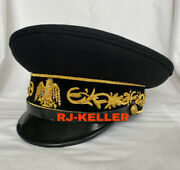 Mexican Army Military General Officers Dress Visor Hat Cap Late 1800andrsquos Sz 60