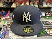 New Era Mlb Fitted Hat New York Yankees Size 8 Authentic Rare Puerto Rico Patch