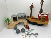 Fisher Price Great Adventures Pirate Ship 77041 Pirate Island 77042