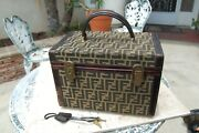 Fendi Zucca Vintage Travel Cosmetic Beauty Case Luggage Rare Piece Make Offer