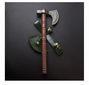 Damascus Steel Axe Design Handle Hand Forged Tactical Outdoor Hunting Tool Gift
