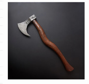 55-58hrc Handmade Carving Axe Hand Forged Damascus Steel Tactical Outdoor Tool