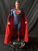 Justice League Man Of Steel 1/3 Size Superman Ex Resin Statue 33 High